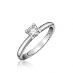 18ct White Gold Brilliant Cut Diamond Engagement Ring 0.33ct