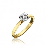 18ct Yellow Gold Brilliant Cut Diamond Engagement Ring 0.50ct