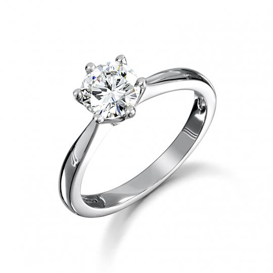 Platinum Brilliant Cut Diamond Solitaire Engagement Ring 0.90ct