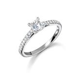 Platinum Princess Cut Diamond Promise Engagement Ring