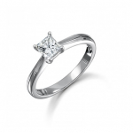 Platinum Princess Cut Diamond Engagement Ring 0.45ct