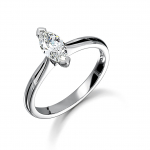 0.25ct Platinum Marquise Cut Diamond Solitaire Ring