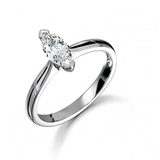 Platinum Marquise Cut Diamond Engagement Ring 0.45ct