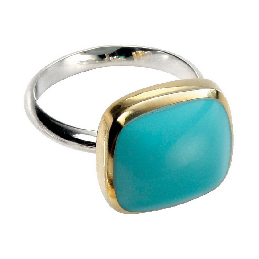ring gold modern set shapes geoturq silver plated rings bling simulated turquoise midi jewelry pfs