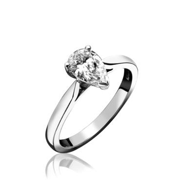 Platinum Pear Shape Diamond Engagement Ring 0.33ct