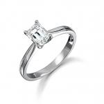 Platinum Emerald Cut Diamond Engagement Ring 0.33ct