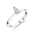 Platinum Pear Shape Diamond Solitaire Engagement Ring 0.40ct