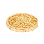Yellow Gold Plated Emozioni 25mm Mystical Map Coin EC161