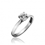 0.50ct 18ct White Gold Brilliant Cut Engagement Ring