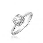 Platinum Brilliant Cut Diamond Halo Engagement Ring 0.50ct