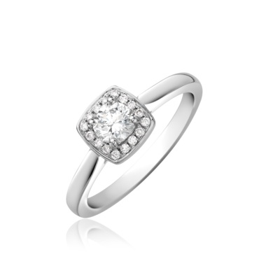 Platinum Brilliant Cut Diamond Halo Engagement Ring 0.50ct