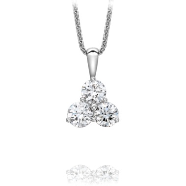 18ct white gold 3 stone diamond pendant johnmacintyre 18ct white gold 3 stone diamond pendant aloadofball Choice Image