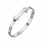 Silver Heart christening bangle
