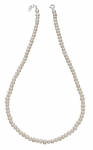 Silver White Pearl Necklet