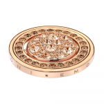 Rose Gold Plated EMOZIONI Ghiaccioy Spinning Coin