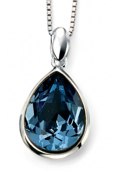 Silver denim blue crystal pendant johnmacintyre silver denim blue crystal pendant aloadofball Images