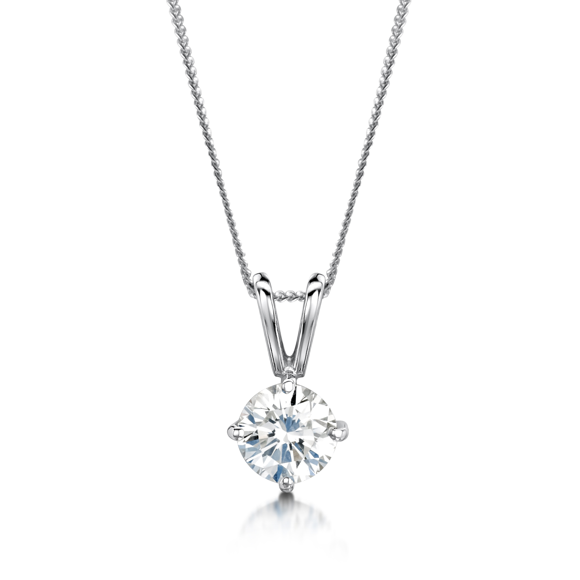 women illusion pendant for pear cluster a shape set look product like necklace shpae diamond platinum solitaire