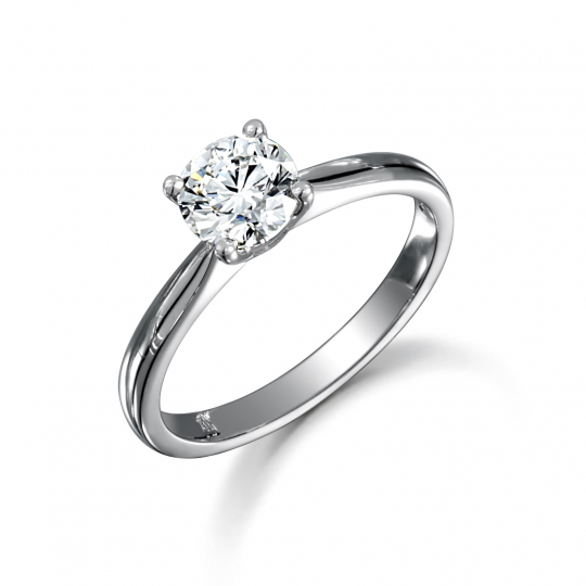 Platinum Brilliant Cut Diamond Engagement Ring 0.45ct