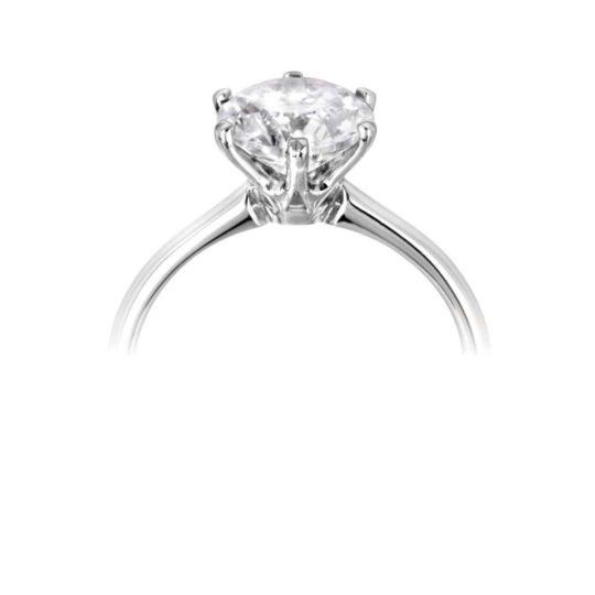 Platinum Brilliant Cut Diamond Solitaire Engagement Ring 1.50ct