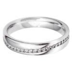 Platinum Brilliant Cut 4mm Diamond Set Full Wave Wedding Ring (HSI)