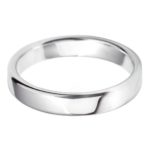 Timeless white gold wedding band