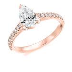 18ct Yellow Gold Pear Shape Diamond Engagement Ring 1.25ct