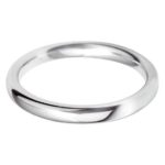 Ladies 9ct White Gold 2.5mm Court Wedding Ring