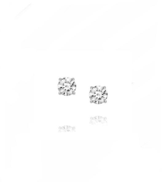 18ct White Gold Brilliant Cut Diamond Stud Earrings 0.30ct