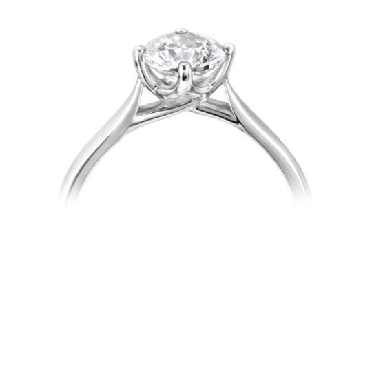 Platinum Brilliant Cut Diamond Solitaire Engagement Ring 0.80ct