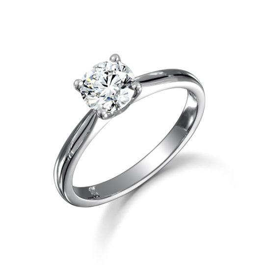 18ct WG Brilliant Cut Solitaire Diamond Ring Mount