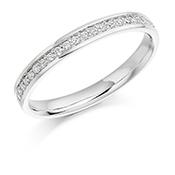 Platinum Brilliant Cut Eternity Ring