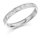 Platinum Baguette Cut Diamond Channel Set Eternity Ring Diamond Weight 0.50ct