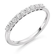Platinum Brilliant Cut Diamond Claw Set Eternity Ring Diamond Weight 0.33ct