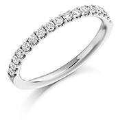 Platinum Brilliant Cut Diamond Micro Claw Set Eternity Ring Diamond Weight 0.33ct