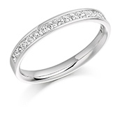 18ct Gold Princess Cut Diamond Channel Set Eternity Ring Diamond Weight 0.50ct