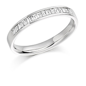 18ct Gold Baguette Cut Diamond Channel Set Eternity Ring Diamond Weight 0.33ct