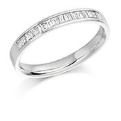 Platinum Baguette Cut Diamond Channel Set Eternity Ring Diamond Weight 0.33ct