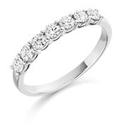 18ct Gold Brilliant Cut Diamond Claw Set Eternity Ring Diamond Weight 0.50ct