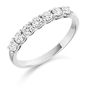 Platinum Brilliant Cut Diamond Claw Set Eternity Ring Diamond Weight 0.50ct