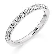 Platinum Brilliant Cut Diamond Micro Claw Set Eternity Ring Diamond Weight 0.50ct