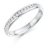 Platinum Brilliant Cut Diamond Channel Set Eternity Ring Diamond Weight 0.22ct