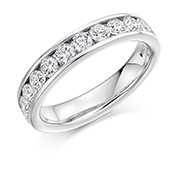 18ct Gold Brilliant Cut Diamond Channel Set Eternity Ring Diamond Weight 1.00ct