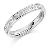 18ct Gold Princess Cut Diamond Channel Set Eternity Ring Diamond Weight 0.75ct