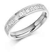 Platinum Baguette Cut Diamond Channel Set Eternity Ring Diamond Weight 0.56ct