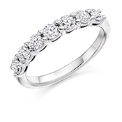 Platinum Brilliant Cut Diamond Claw Set Eternity Ring Diamond Weight 0.75ct