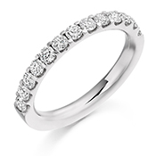 Platinum Brilliant Cut Diamond Micro Claw Set Eternity Ring Diamond Weight 0.75ct