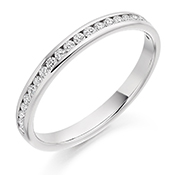 18ct Gold Brilliant Cut Diamond Channel Set Eternity Ring Diamond Weight 0.25ct