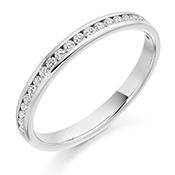 Platinum Brilliant Cut Diamond Channel Set Eternity Ring Diamond Weight 0.25ct