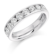 Platinum Brilliant Cut Diamond Channel Set Eternity Ring Diamodn Weight 1.50ct