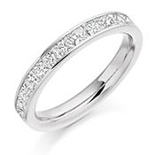 18ct Gold Princess Cut Diamond Channel Set Eternity Ring Diamond Weight 1.00ct